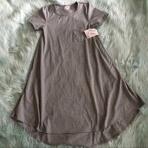 Lularoe XXS Carly dress silver metallic NWT new